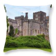 Powderham Castle Throw Pillow