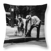 Prohibition, 1920s Throw Pillow
