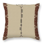 Quinn Written In Ogham Throw Pillow