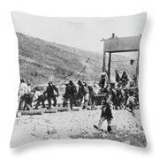 Railroad Construction Throw Pillow