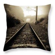 Railway Tracks Throw Pillow