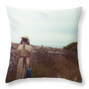 Refugee Girl Throw Pillow