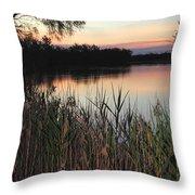 River Murray Sunset Series 1 Throw Pillow