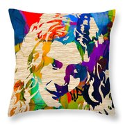 Robert Plant Throw Pillow