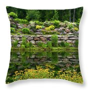 Rocks And Plants In Rock Garden Throw Pillow