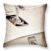 Rolls-royce Hood Ornament Throw Pillow