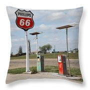 Route 66 - Adrian Texas Throw Pillow