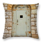 Route 66 - Macoupin County Jail Throw Pillow
