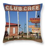 Route 66 - Santa Rosa New Mexico Throw Pillow