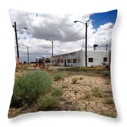Route 66 - Twin Arrows Trading Post Throw Pillow