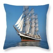 Sailing Ship Throw Pillow