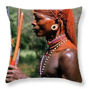 Samburu Warrior Throw Pillow