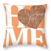 San Antonio Street Map Home Heart - San Antonio Texas Road Map I Throw Pillow