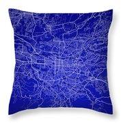 San Jose Street Map - San Jose Costa Rica Road Map Art On Colore Throw Pillow
