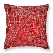 Santiago Street Map - Santiago Chile Road Map Art On Colored Bac Throw Pillow