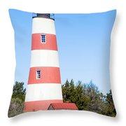 Sapelo Island Lighthouse Sapelo Island Georgia Throw Pillow