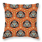 Seamlessly Tiled Kaleidoscopic Mosaic Pattern Throw Pillow