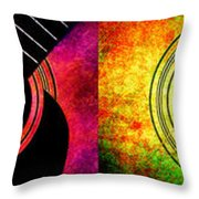 4 Seasons Guitars Panorama Throw Pillow by Andee Design