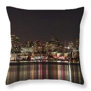 Seattle Skyline On Lake Union Throw Pillow