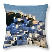 Serifos Town Throw Pillow