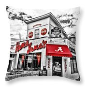 Shadow Of The Stadium - Hdr Selective Color Throw Pillow