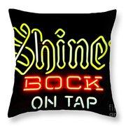 Shiner Bock On Tap Throw Pillow