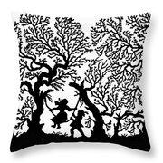 Silhouette 19th Century Throw Pillow