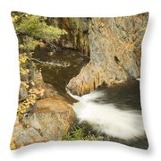Smalls Falls In Western Maine Throw Pillow