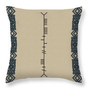 Smith Written In Ogham Throw Pillow