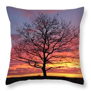 Spectacular Sunset Epsom Downs Surrey Uk Throw Pillow