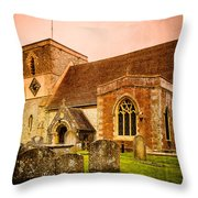 St Marys Church Kintbury Throw Pillow