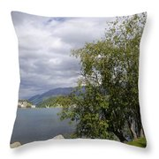St Moritz Lake Throw Pillow