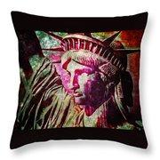 Statue Liberty Throw Pillow