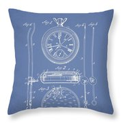Stopwatch Patent Drawing From 1889 Throw Pillow