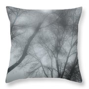Storm Trees Throw Pillow