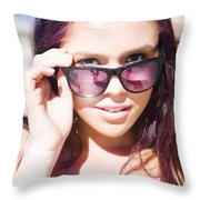 Summer Fashion Throw Pillow