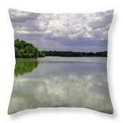 4-summer Time At Moraine View State Park Throw Pillow
