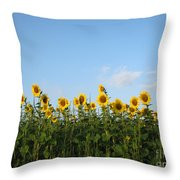Sunflower Series Throw Pillow