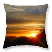 Sunset In Golden Valley Throw Pillow