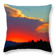 Sunset In Golden Valley Throw Pillow