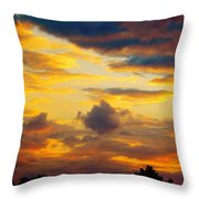 Sunset Sky By Artist Nature Throw Pillow