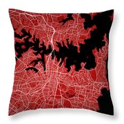 Sydney Street Map - Sydney Australia Road Map Art On Colored Bac Throw Pillow
