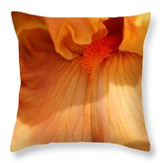 Tall Bearded Iris Named Penny Lane Throw Pillow