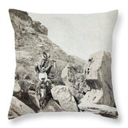 Texas Cowboys, C1908 Throw Pillow