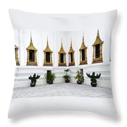 Thai Kings Grand Palace Throw Pillow