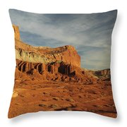 The Castle, Capitol Reef National Park Throw Pillow