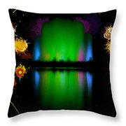 The Electric Fountain Throw Pillow