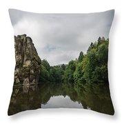 The Externsteine Throw Pillow
