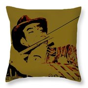 The Jazz Flutist Throw Pillow
