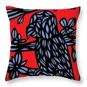 The Lonely Serpent Throw Pillow